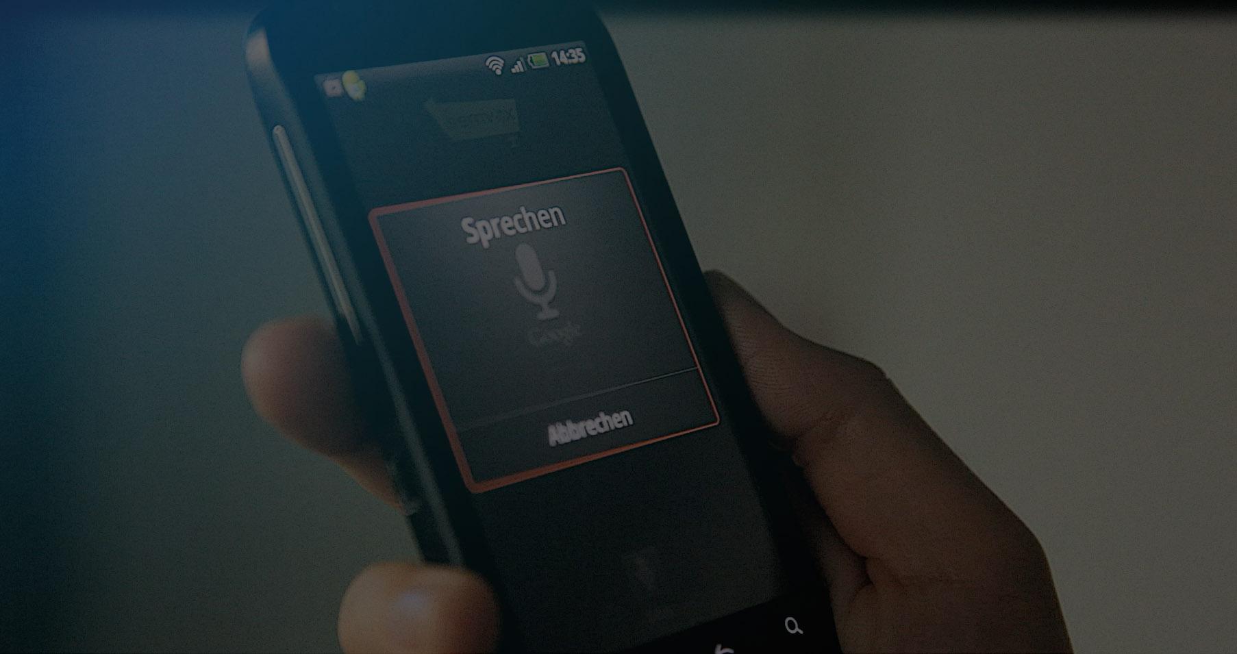 Sprachsteuerung mobile Anwendungen und Apps